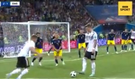 Germany fight the dying of their World Cup light... but it was the closest of calls for the defending champions.  The story of a dramatic night at the #worldcup coming up on @BBCNews at 10pm with @OllyFoster