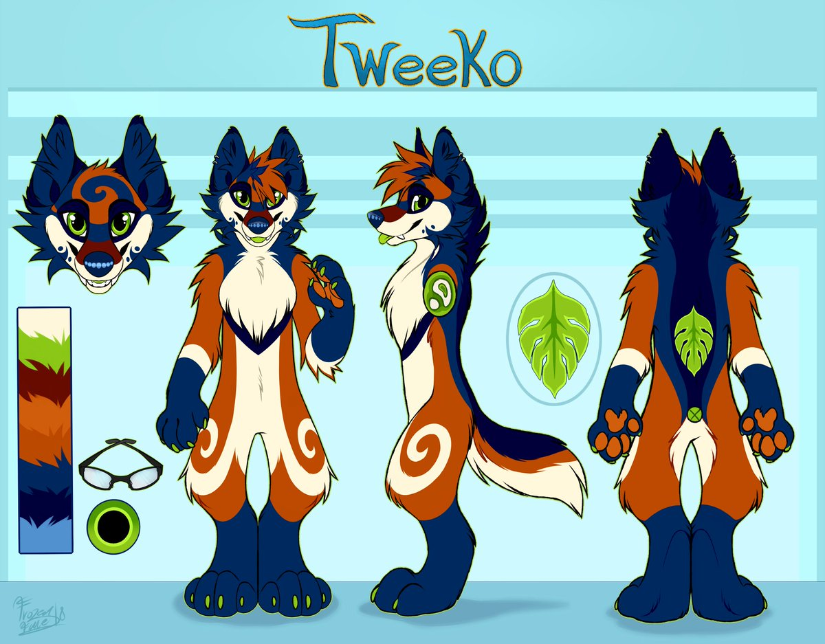 Excited to show these two off I finished recently! I&#39;m very proud to have been picked to make my upcoming fursuit makers character references.   New refs for @TweekoWuff &amp; @FrostThusky!<br>http://pic.twitter.com/XIZ2p13fQD