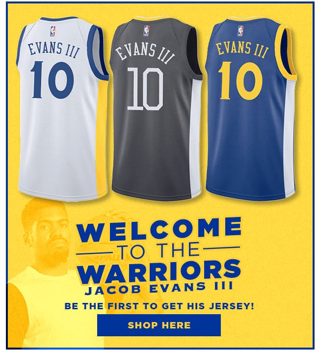 e995c1292ee0 Jacob Evans III will wear  10 with the Warriors   warriors