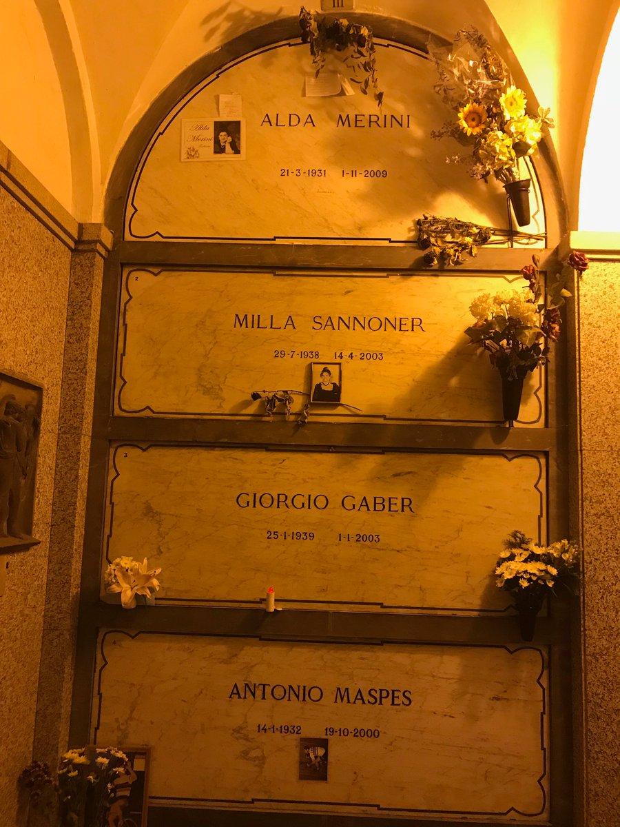 #CimiteroMonumentale #Milano è stato bello vedere dove riposano #Merini #Sannoner #Gaber #Maspes  - Ukustom
