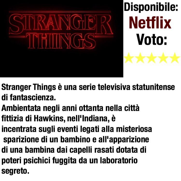 Ho stra-amato questa serie, piena di colpi di scena e gli effetti speciali sono fatti benissimo!Ve la consiglio vivamente!#consiglio #serietv #StrangerThings #italia #Netflix  - Ukustom