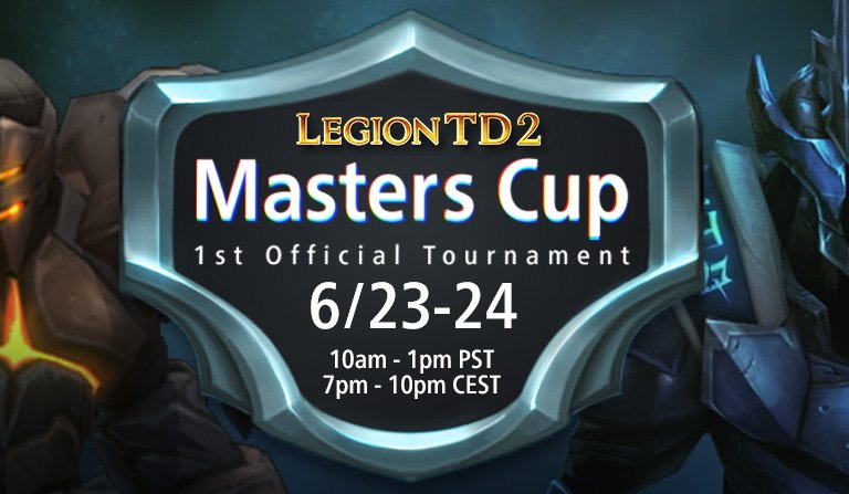 Our first official tournament, the Masters Cup, just started! If youre curious what competitive @LegionTD2 looks like, tune in here: twitch.tv/sik_ora