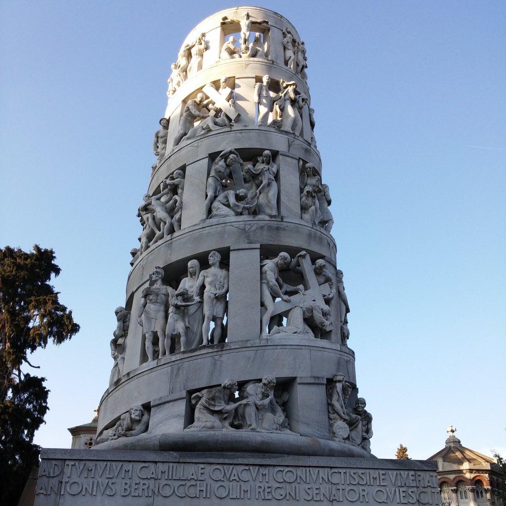 #CimiteroMonumentale #Milano ispirata alla Torre Traiana di Roma l'Edicola Bernocchi  - Ukustom