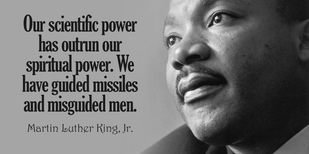 Our scientific power has outrun our spiritual power. We have guided missiles and.. - Martin Luther King, Jr. #quote<br>http://pic.twitter.com/fDWnMidAZk