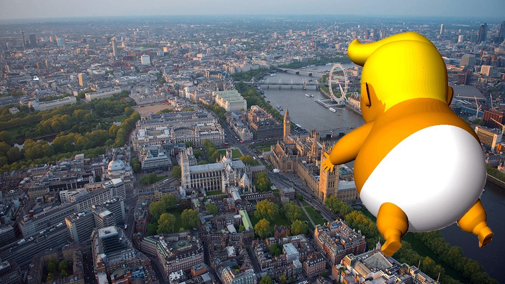 More than 6,000 sign petition to get inflatable 'baby Trump' to float over London: https://t.co/uX0b9VlmoH