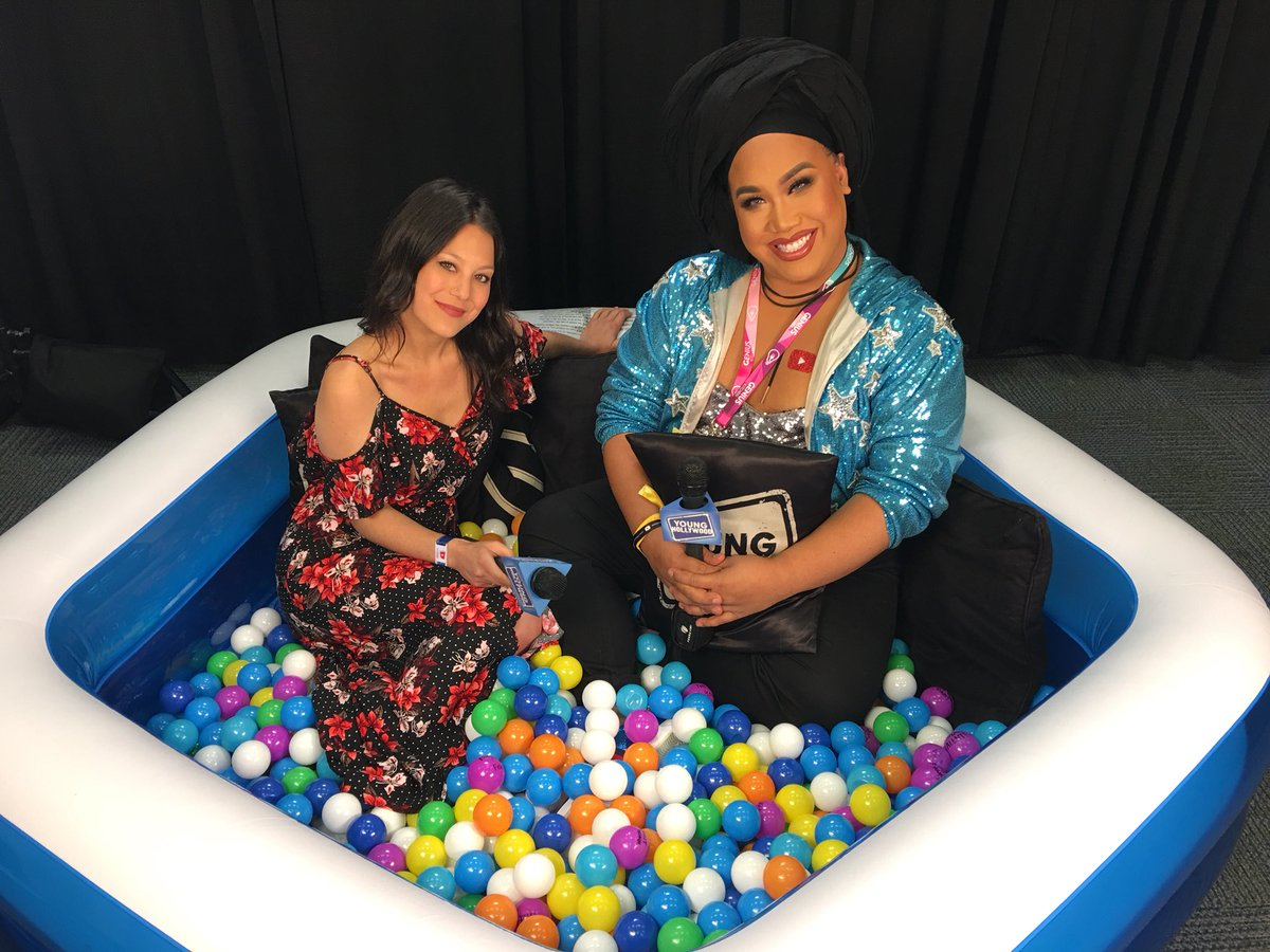 Madly in love with this hunty, @patrickstarrr 😍⭐️ Stay tuned to watch us play Emotional Fan Tweets! #vidcon