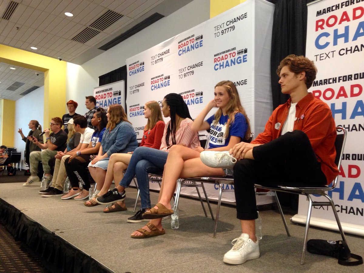 Parkland High School students stop in Madison on #RoadToChange tour. @abecker_4 reports: https://t.co/8s3HqQLPro