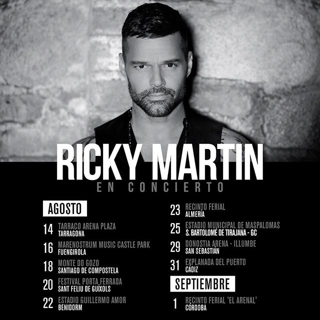 Ricky Martin On Twitter Mi Gente De España Nos Vemos Pronto En Los Conciertos Rickymartinenconcierto Entradas Https T Co H1artbf2mi Https T Co Qi0xgibbi5