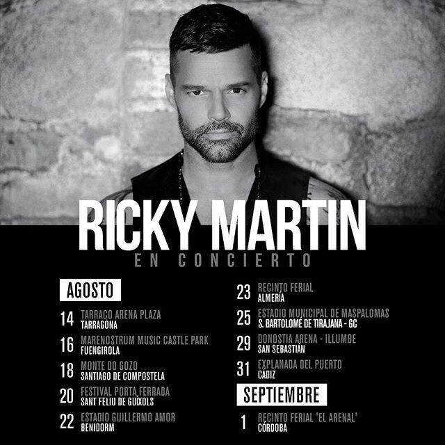 Ricky Martin On Twitter Mi Gente De España Nos Vemos Pronto En Los Conciertos Rickymartinenconcierto Entradas Https T Co H1artbf2mi Https T Co Qi0xgibbi5