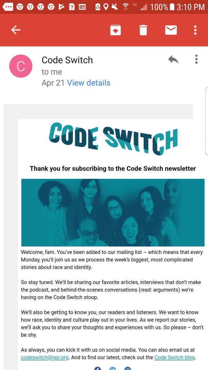 code switch podcast email