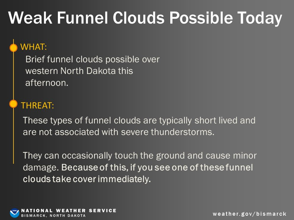These Types Of Funnel Clouds May Occasionally Touch The Ground And Cause Minor Damage So If You See One Take Cover Immediately
