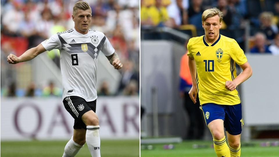 #WorldCup #GERSWE | Full-time: #GER 2-1 #SWE. Toni Kroos' free-kick at the dying minutes of the game keeps the defending champions' hopes alive.        Highlights: https://t.co/nEsyVNfTqE