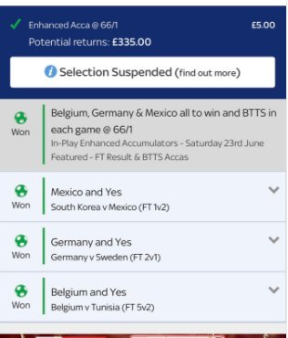 Dear @ToniKroos,  Thanks for the last minute worldie.  Yours sincerely, @SkyBet punters