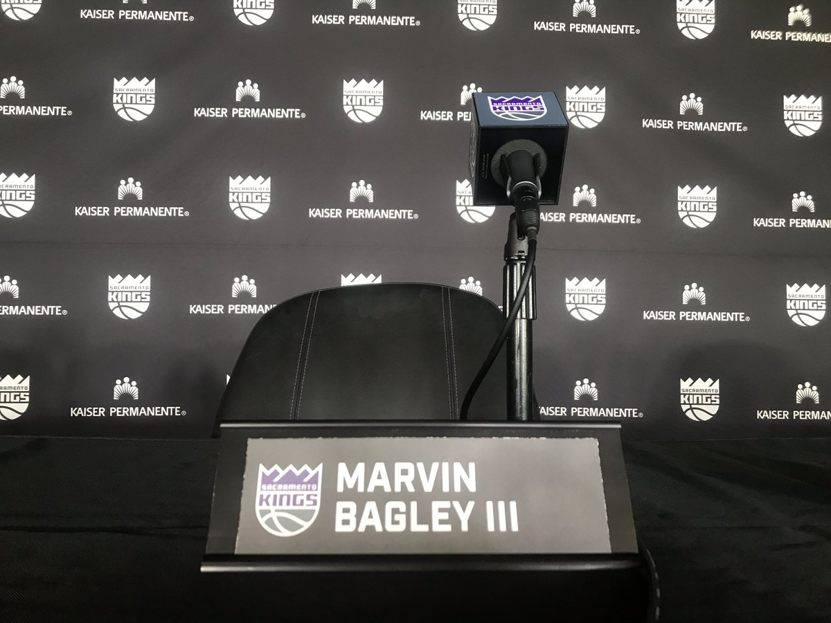 Follow along with Angel at the #Kings and Marvin Bagley III's press conference.