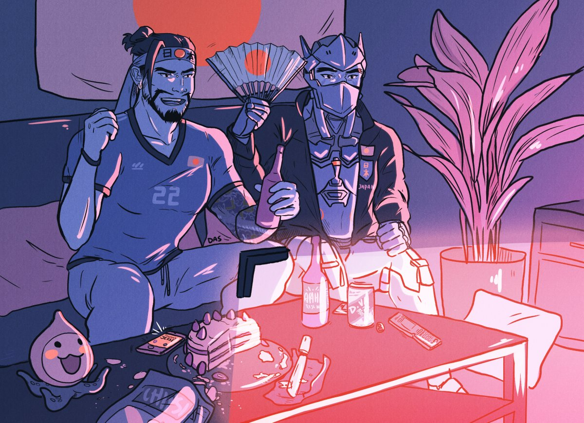 GO #SAMURAIBLUE  ! hanzo and genji cheering for their team! it&#39;s the world cup season after all! #overwatch #fanart <br>http://pic.twitter.com/t71ytsD7A2