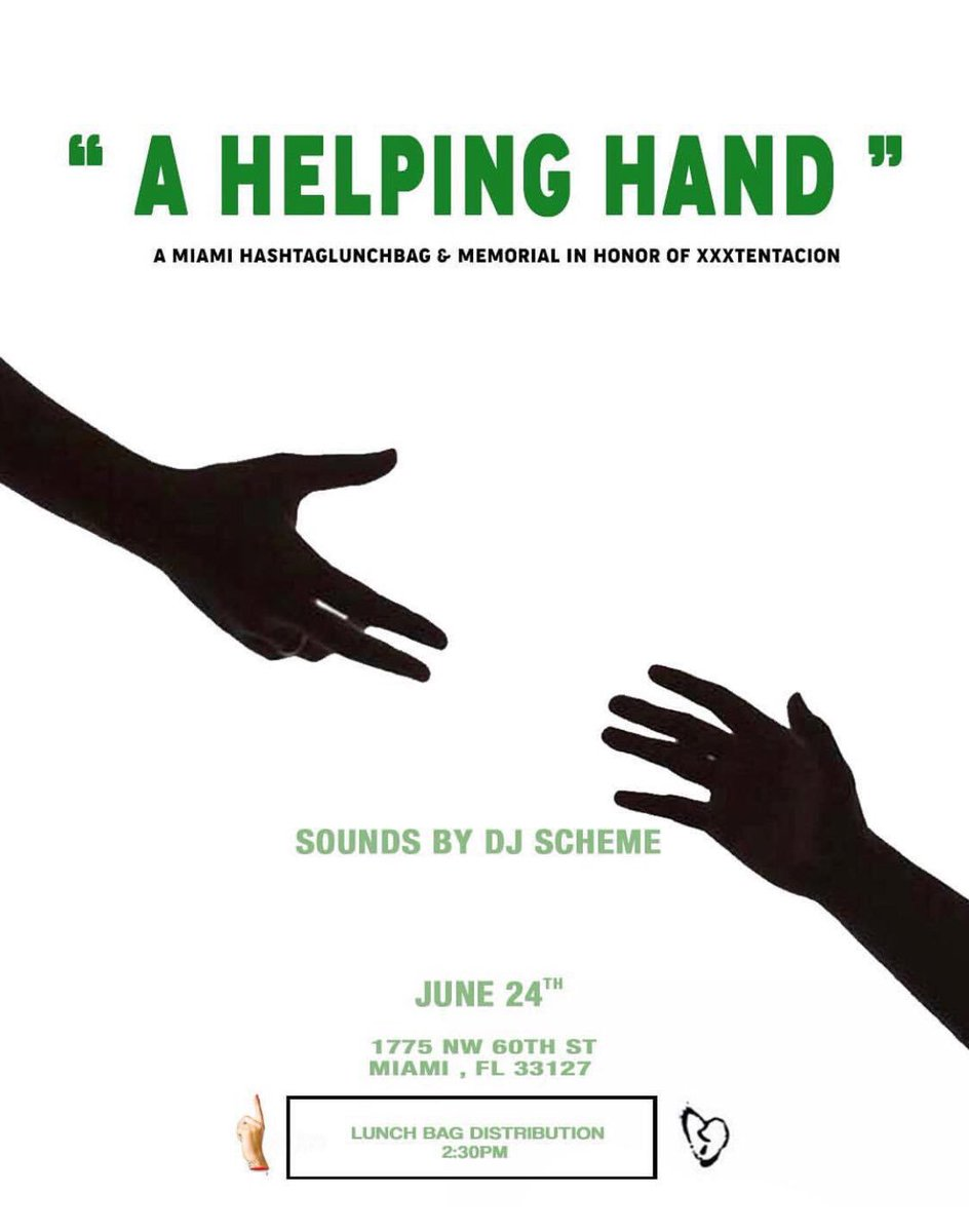 The charity event XXXTentacion announced he was planning on the day he passed away will still take place in Miami on Sunday, June 24.  A Helping Hand: A Miami #HashtagLunchbag and Memorial in Honor of XXXTentacion  Sounds by @LifeasGabe