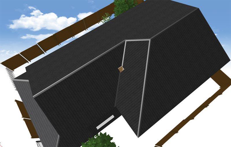 ちなみにA田君の家は頻繁に出てくるだろうなと思って あらかじめ3Dで作って漫画で描く時の下絵にしているのですが 屋根のパーツが上手くできなくて3D上では屋根に穴が空いてる 超欠陥住宅。A田君の家は超事故物件だし大変。