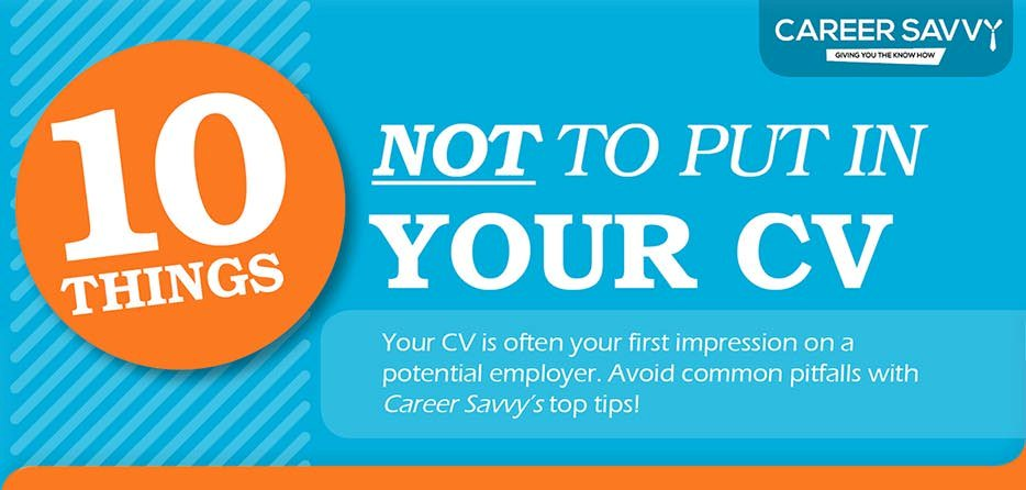 Epic Cv On Twitter Infographic 10 Things Not To Put In Your