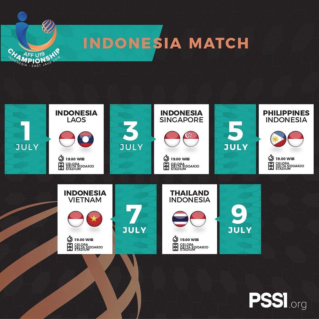 jadwal timnas Indonesia U-19