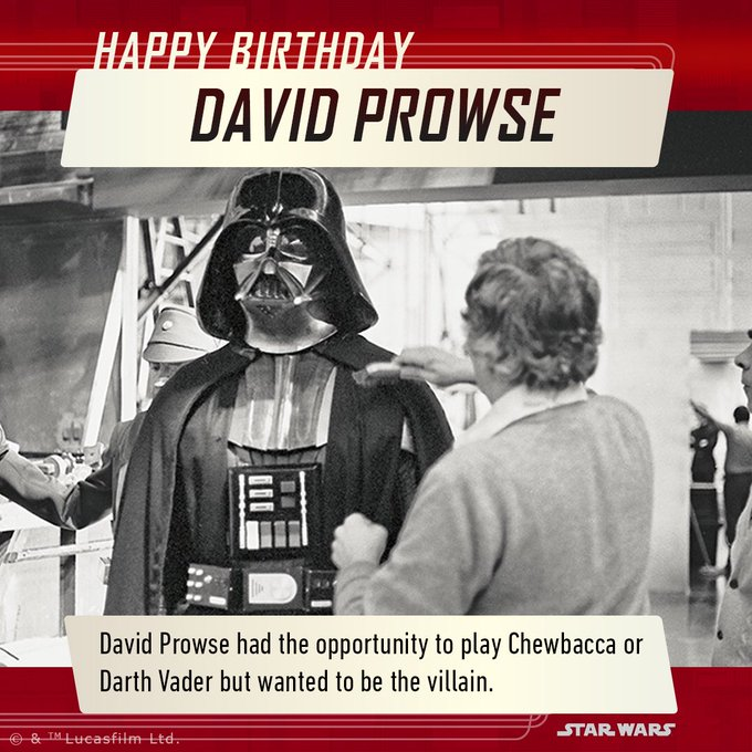 A very Happy Birthday to the man behind the suit - David Prowse!
