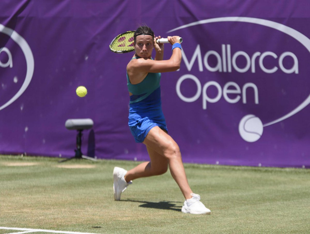 Into her third straight final in Mallorca, can Anastasija #Sevastova defend her title today? The Latvian faces Tatjana #Maria in the final.  Read more > https://t.co/PsGIwRVbLB
