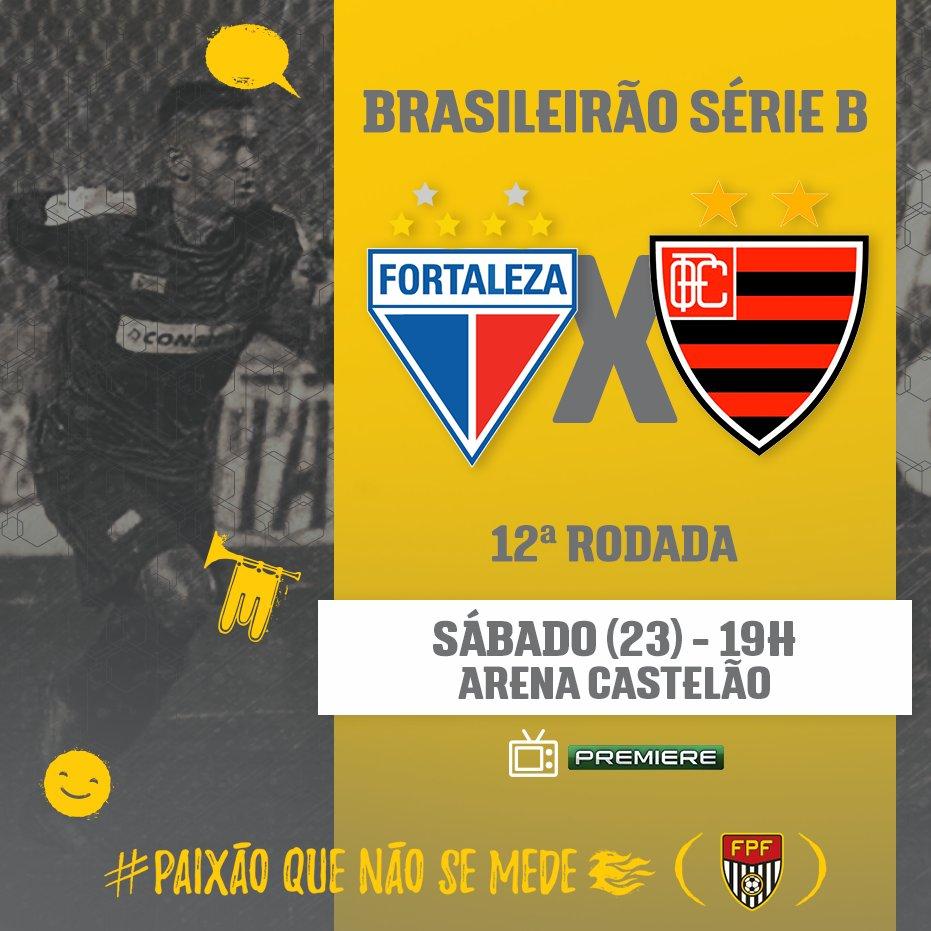 CONTRA O LÍDER! Pela #SérieB, o Oeste viaja ao Ceará, onde enfrentará o Fortaleza, que lidera a competição. ⚽Fortaleza x Oeste 🏟Arena Castelão 🕓19h 📺Premiere #PaixãoQueNãoSeMede #FPF #FutebolPaulista #EsseÉoMeuJogo