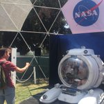 Image for the Tweet beginning: This @NASA tent is chill,