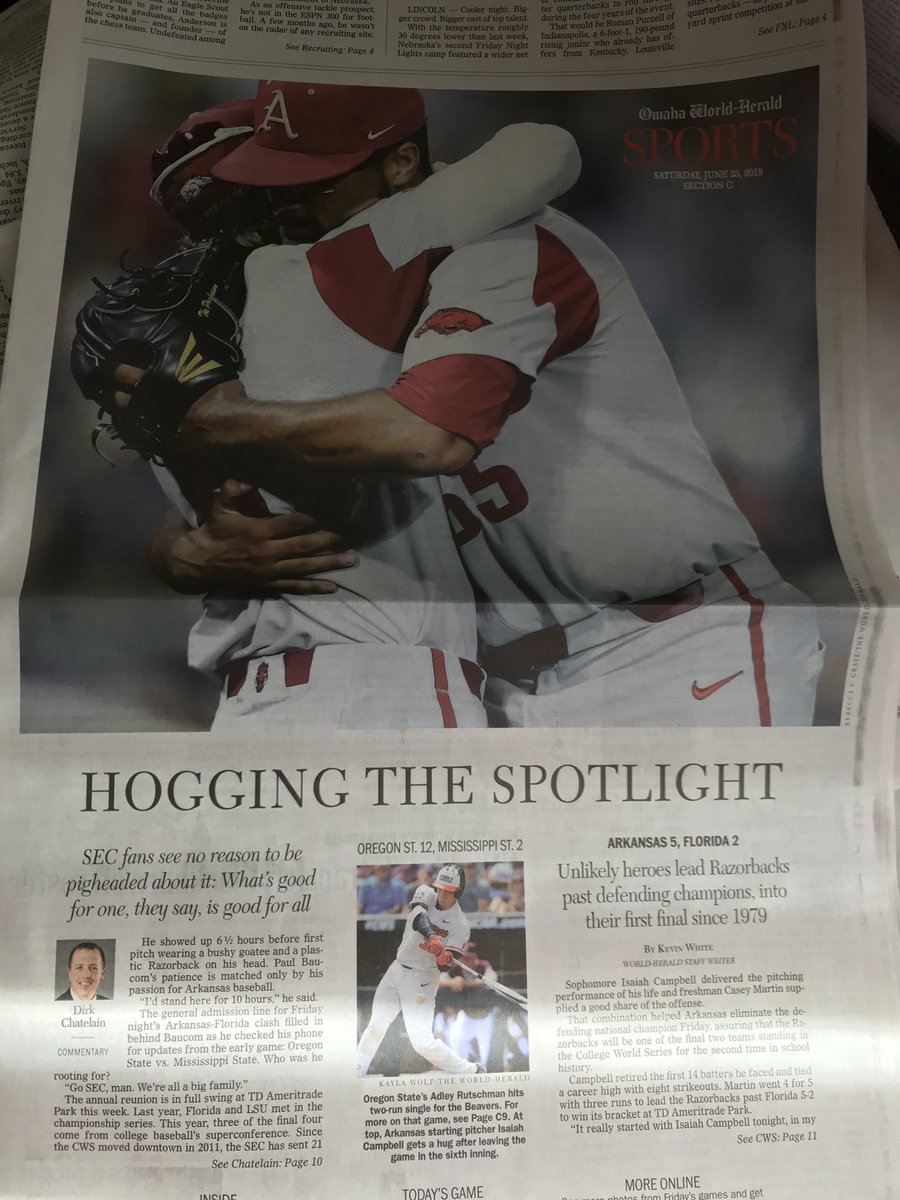 Front page of the Omaha Herald today @THV11<br>http://pic.twitter.com/YxIQICZ8ow