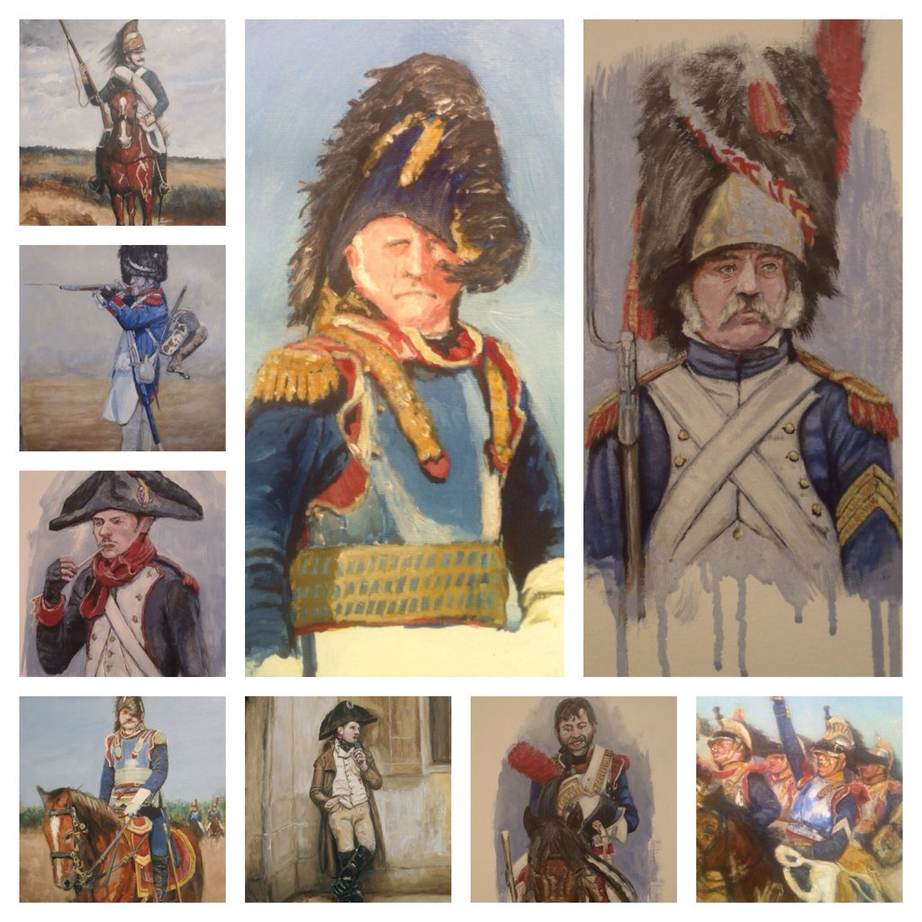 Artwork by @BPookArt #napoleonic #waterloo #traditionalart <br>http://pic.twitter.com/ZwD4PMeGAC