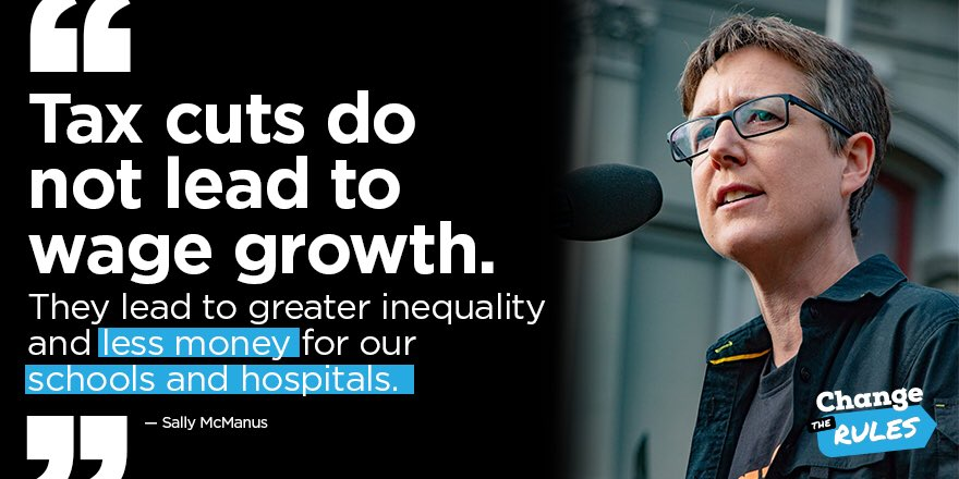 We need to be improving wage growth, investing in education and healthcare, cracking down on tax evasion, wage theft, superannuation theft, and the exploitation of vulnerable workers, not giving a big handout to people earning 2.5 times the average wage. #insiders <br>http://pic.twitter.com/UZ3XwJLEMg