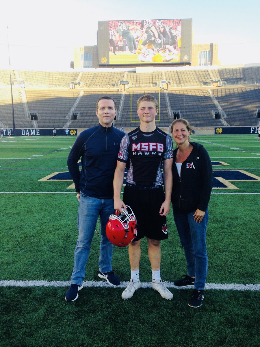 Great to see my nephew @KilburgRyan & the rest of the Maine South Hawks  Foo@MaineSouthAthtball team go undefeated today & win the 7-on-7 tourney in South Bend @NDFootball
