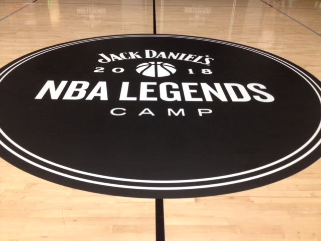 New in town: Jack Daniel's custom designed court as part of the first Jack Daniel's NBA Legends Camp! 👀 #ad