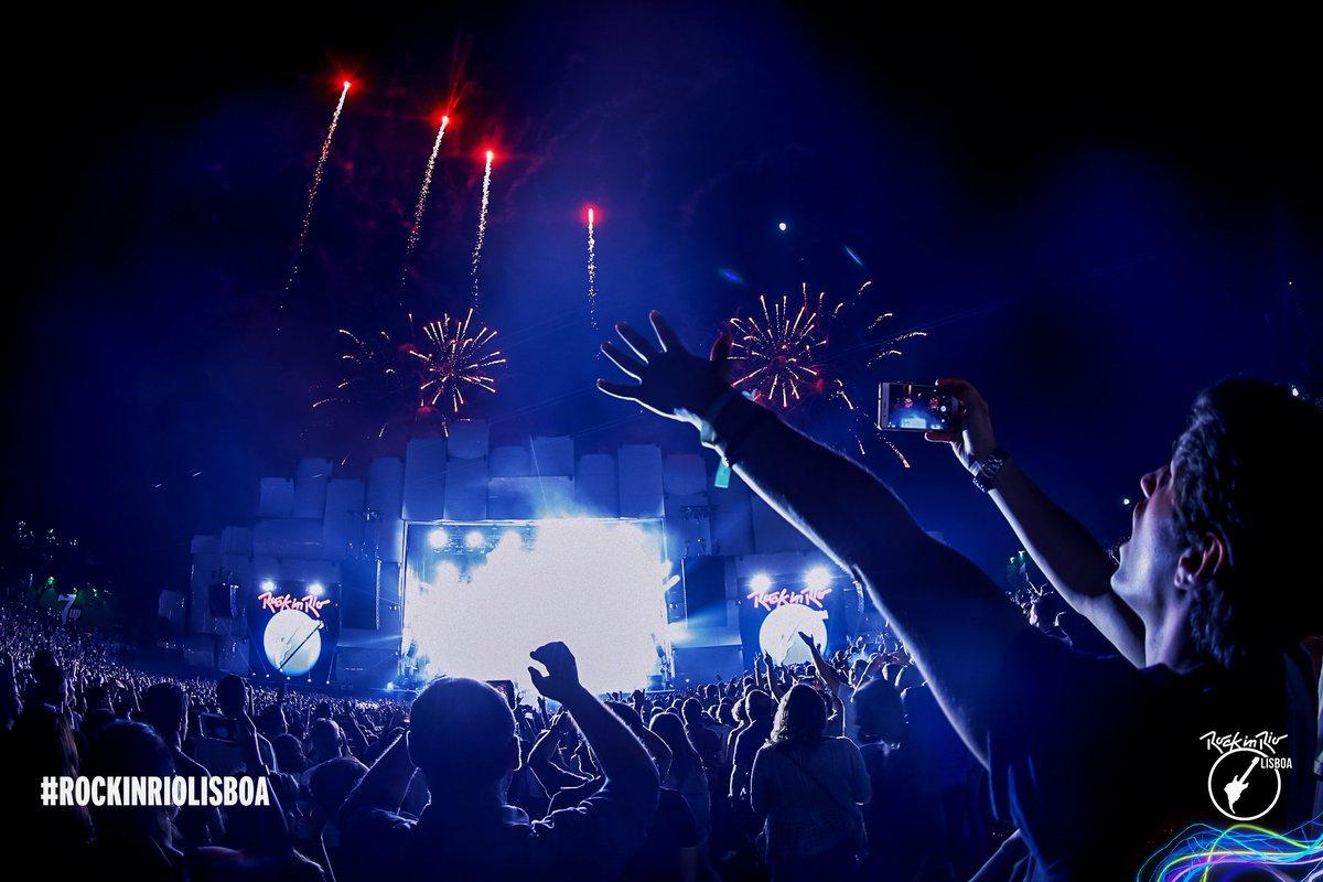 O Palco Mundo se despede de todos em Lisboa, mas amanhã tem mais! #RockinRioLisboa 💥🤗 ✅ Bruno Mars ✅ Demi Lovato ✅ Anitta  ✅ Agir