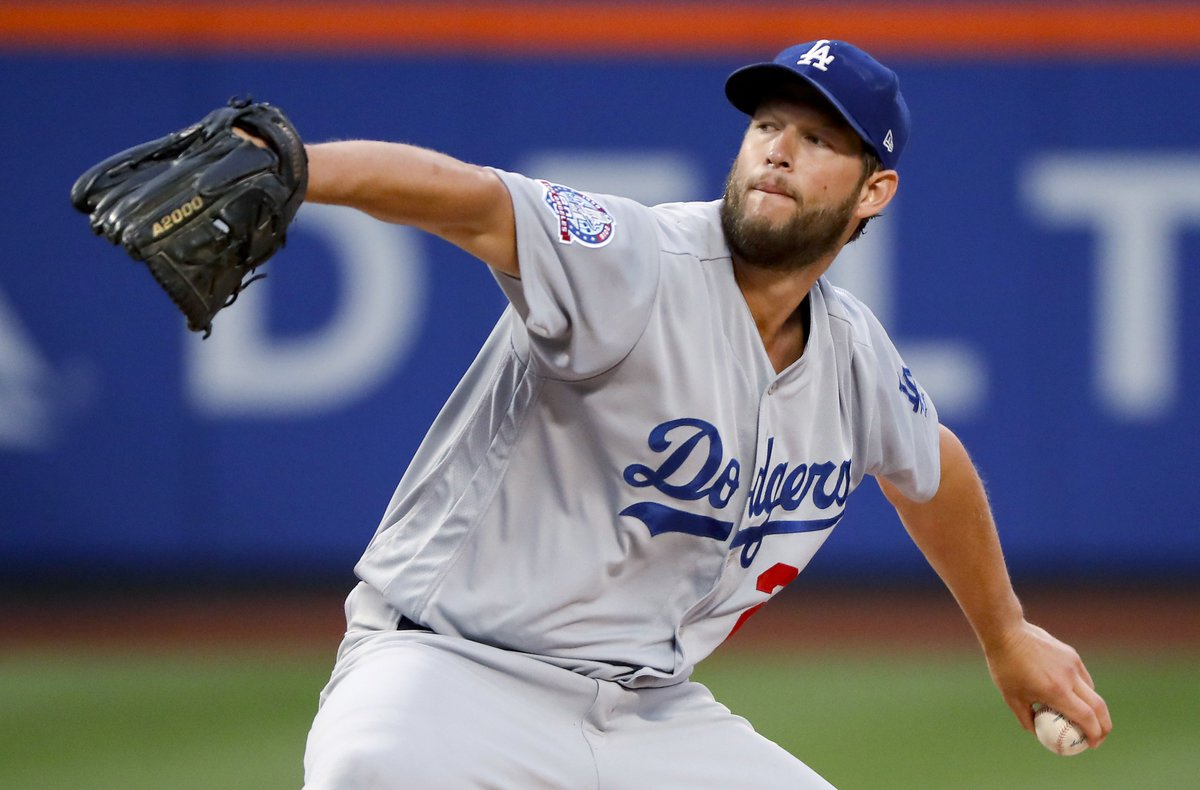 Clayton Kershaw's return from the DL:   3IP 5H 2ER 1BB 4K, 55 pitches