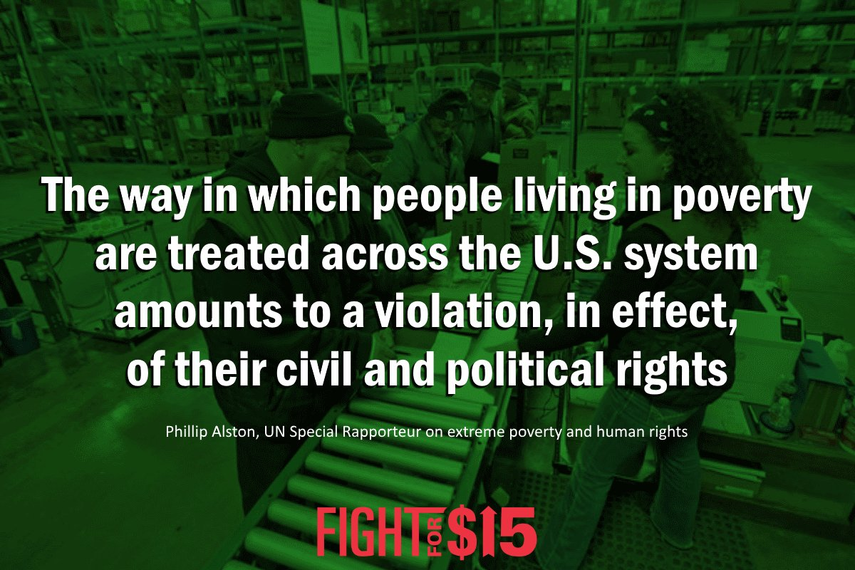 At the end of the day, in a rich country like the United States, the persistence of extreme poverty is a political choice made by those in power.  http:// ow.ly/Krr730ktO5m  &nbsp;   #FightFor15 <br>http://pic.twitter.com/J6eqAbxT2W