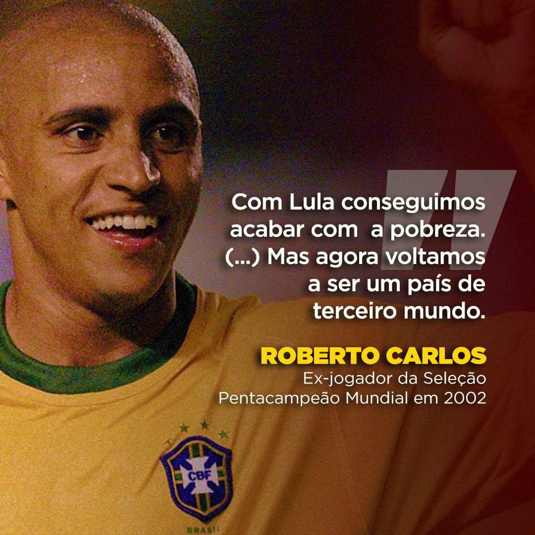 O pentacampeão Roberto Carlos RC3 concedeu entrevista a TV Russia Today, comandada por Rafael Correa, e marcou um golaço ao falar sobre a atual situação do Brasil. 👉👉👉https://t.co/E6iBe0t8gB