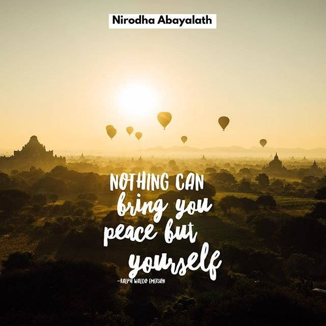 Image result for nothing can bring you peace but yourself.