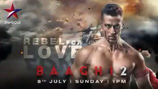 Ronny's enemies are surely going to have a bad time! Catch this action-packed @iTIGERSHROFF and @DishPatani starrer on 8th July, Sunday at 1PM, only on Star Gold. #Baaghi2OnStarGold #AhmedKhan @BajpayeeManoj @RandeepHooda