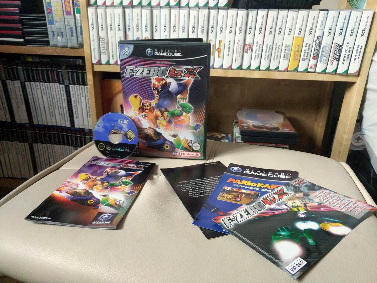 For #CIBsunday this week I&#39;ve gone for the amazing F Zero GX on the GameCube, one of the best &#39;future racers&#39; ever made, this copy I received courtesy of the brilliant @Gothweet Was the last non handheld game released in the series, 15 years ago! We need another!   #RetroGaming<br>http://pic.twitter.com/8he3xY6wUQ
