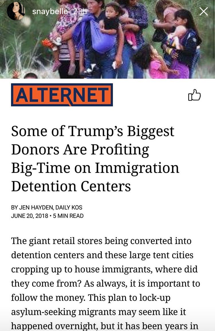 Who would have thought That big donors pay to play. Let me guess Obama did it too. Yeah. So did Reagan and Clinton. But we are living now. I was outraged back then and I'm still outraged. You're still making excuses for kids being in cages.