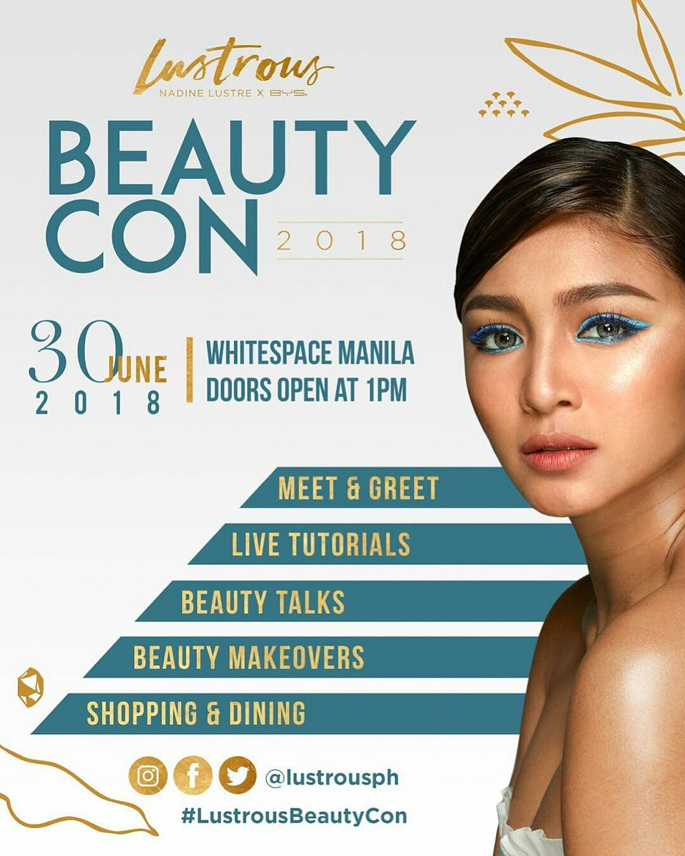Are you ready for the first-ever Lustrous BeautyCon?  Get a chance to meet and bond with Nadine as she brings you a whole day of fun activities filled with beauty, makeup, and empowerment!   6DaysToLustrousBeautyCon #dafBAMA2018Nadine<br>http://pic.twitter.com/S8nlBk0iNB
