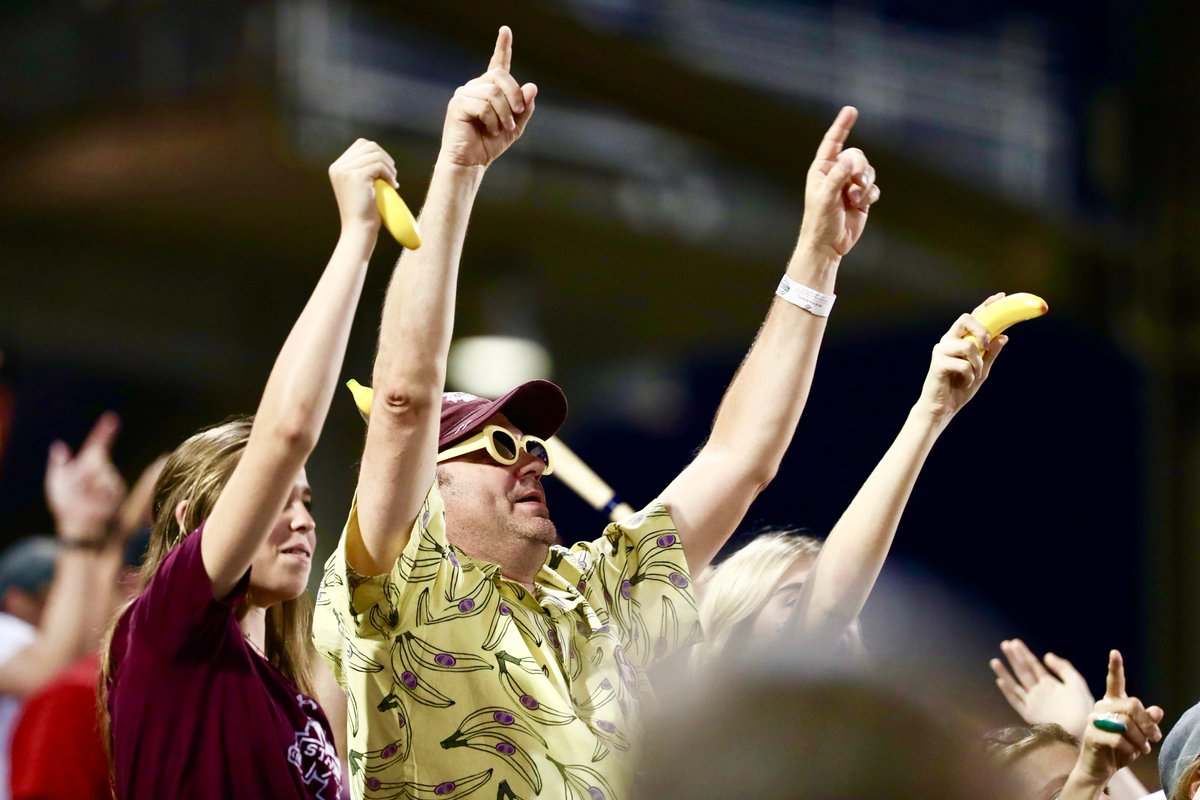 Looking for a rally... 🍌  #CWS | @HailStateBB