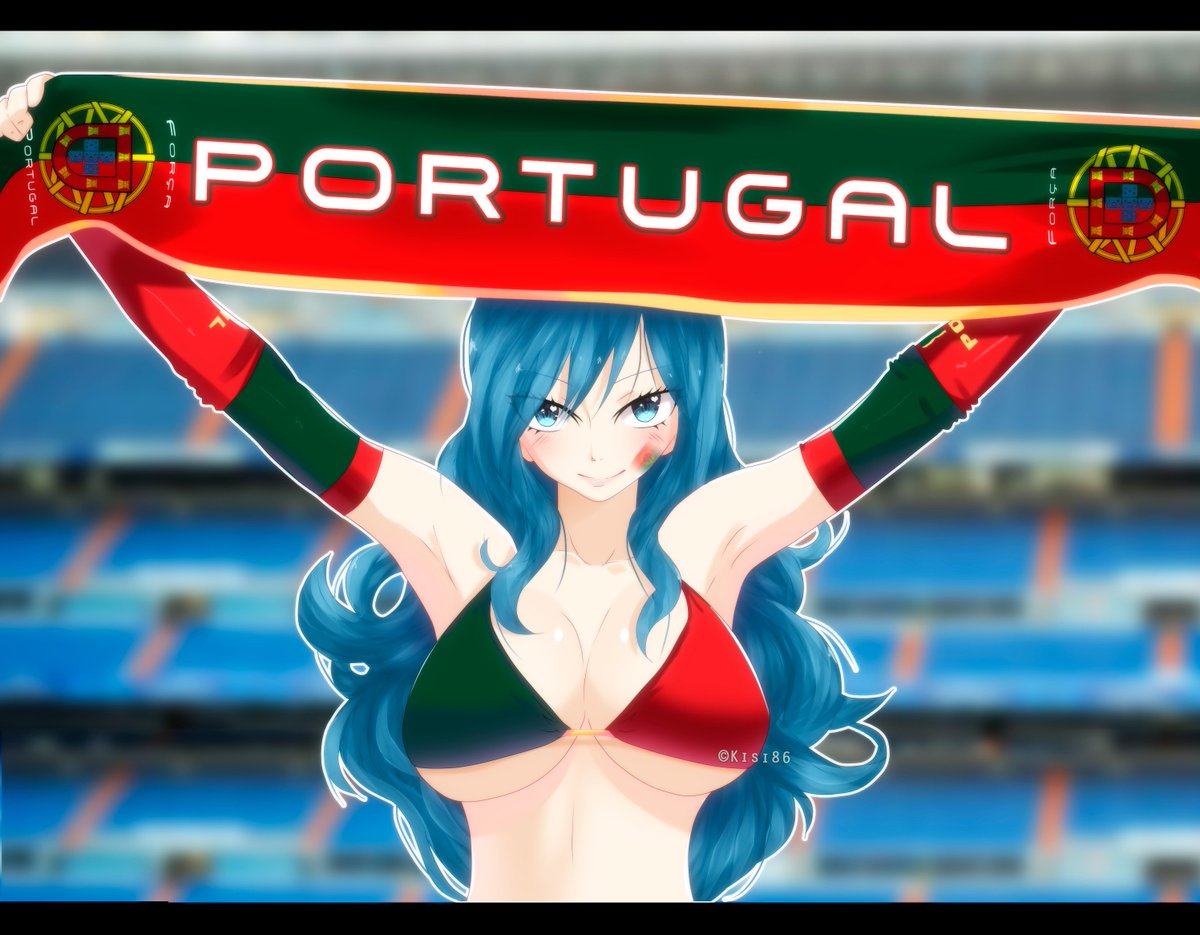 Força Portugal~  I hope you like! This Juvia that I draw supporting the Team of Portugal. Fanart © Kisi86 <br>http://pic.twitter.com/09GN5050jK