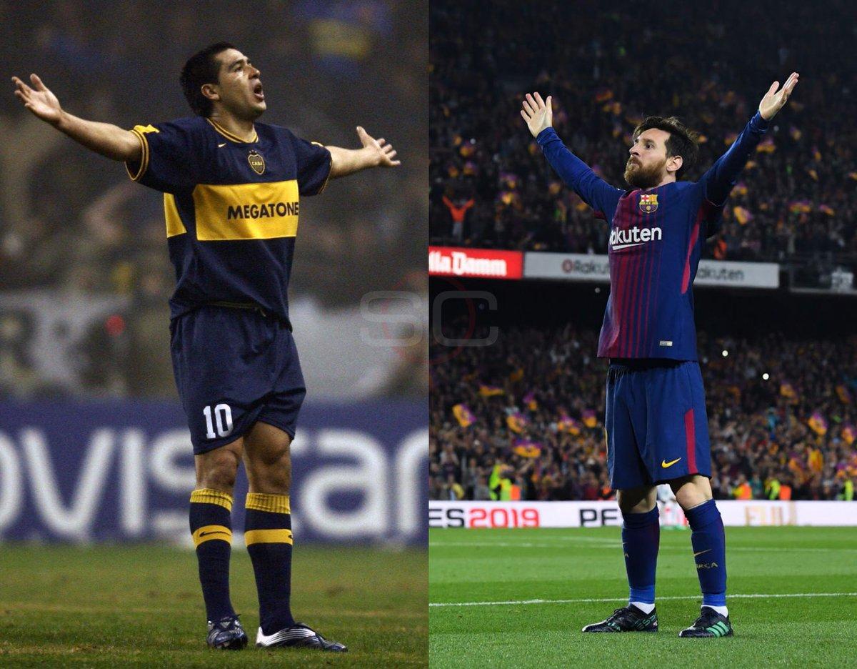 Uno nació en 1978, otro en 1987. Sin dudas el 24 de junio es el 'día del fútbol'. ¡#FelizCumpleRoman, #FelizCumpleLeo!