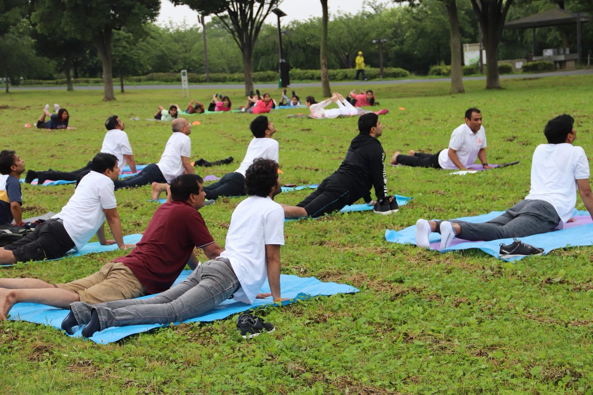 International Day of Yoga, IDY 2018 celebration in Tokyo. Thank you all for joining despite of the rain. <br>http://pic.twitter.com/H3nxF3qiN1