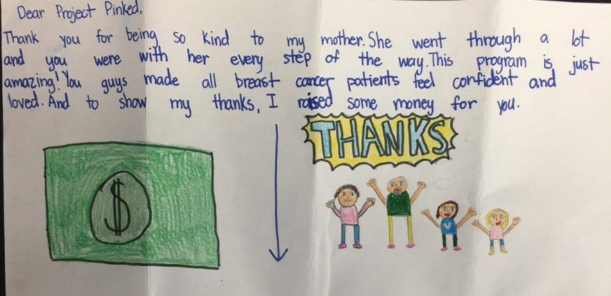 At Project Pink&#39;d, we&#39;re not only Helping Survivors Thrive, we&#39;re making an impact on their families too. Thank you Keary for the sweet note (with fabulous pictures) and the amazing donation in honor of your Thriving mom!  #projectpinkd #helpingsurvivorsthrive #itspersonal <br>http://pic.twitter.com/TXvdDJjhhC
