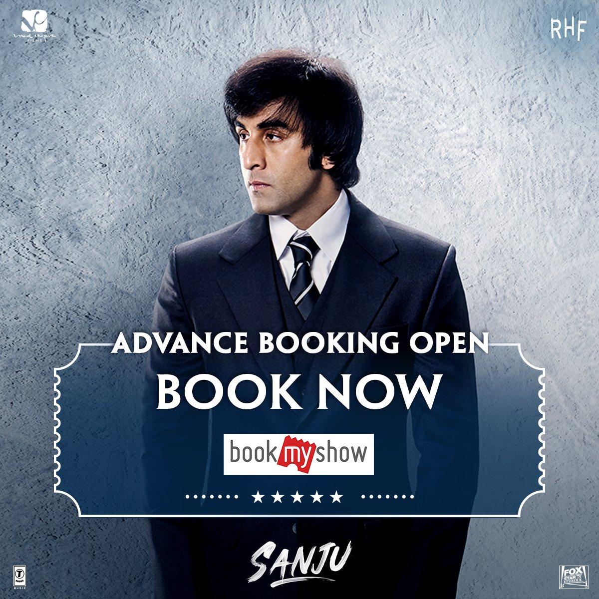 Bole toh, theatres full ho gaya hain! Book your tickets in advance for #Sanju on  https:// bookmy.show/SanjuFilm  &nbsp;    #RanbirKapoor @RajkumarHirani @VVCFilms @bookmyshow #RajkumarHiraniFilms<br>http://pic.twitter.com/oIYptQfspy