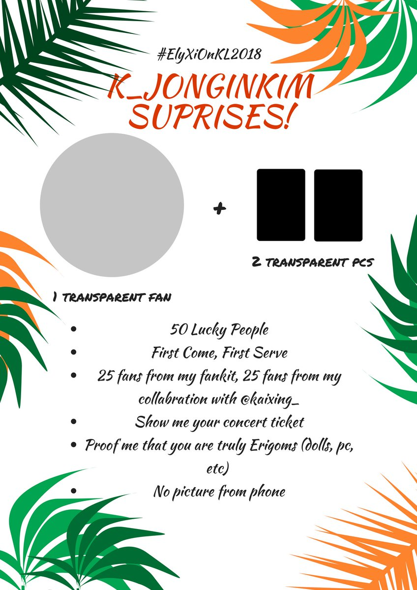 DO YOU THINK ITS OVERRRRR? No, IT IS NOT! I have SECOND LAST suprise for you guys. As I said before, I will spend more to give you MORE  Small freebies for #ElyXiOnKL2018 #ElyXiOInMalaysia BUT IT IS SO LIMITED! The time and place to be announce on d-day! See u, EXO-L <br>http://pic.twitter.com/wt0ZgHVCw6