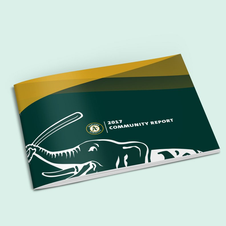 Honored to partner up with the Oakland @Athletics and Executive Director @shaun_tai  of @OaklandDigital to create a booklet that documents the #outreach and #community involvement accomplished in 2017 by the Oakland Athletics!! Keep Inspiring the Bay! #InspireOakland <br>http://pic.twitter.com/ijkZgVyDTG