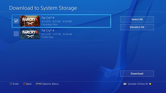 play downloaded games on another ps4